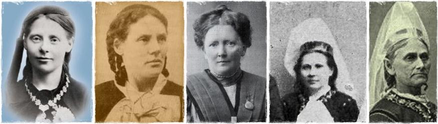 Fimm íslenskar súffragettur