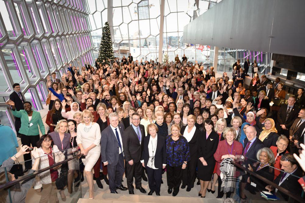Ársþing WPL - Women Political Leaders var haldið í Hörpu 28.-30. nóvember 2017.