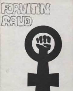 Tímaritið Forvitin rauð var einn helsti vettvangur baráttunnar fyrir frjálsum fóstureyðingum. Myndin er sótt hingað.