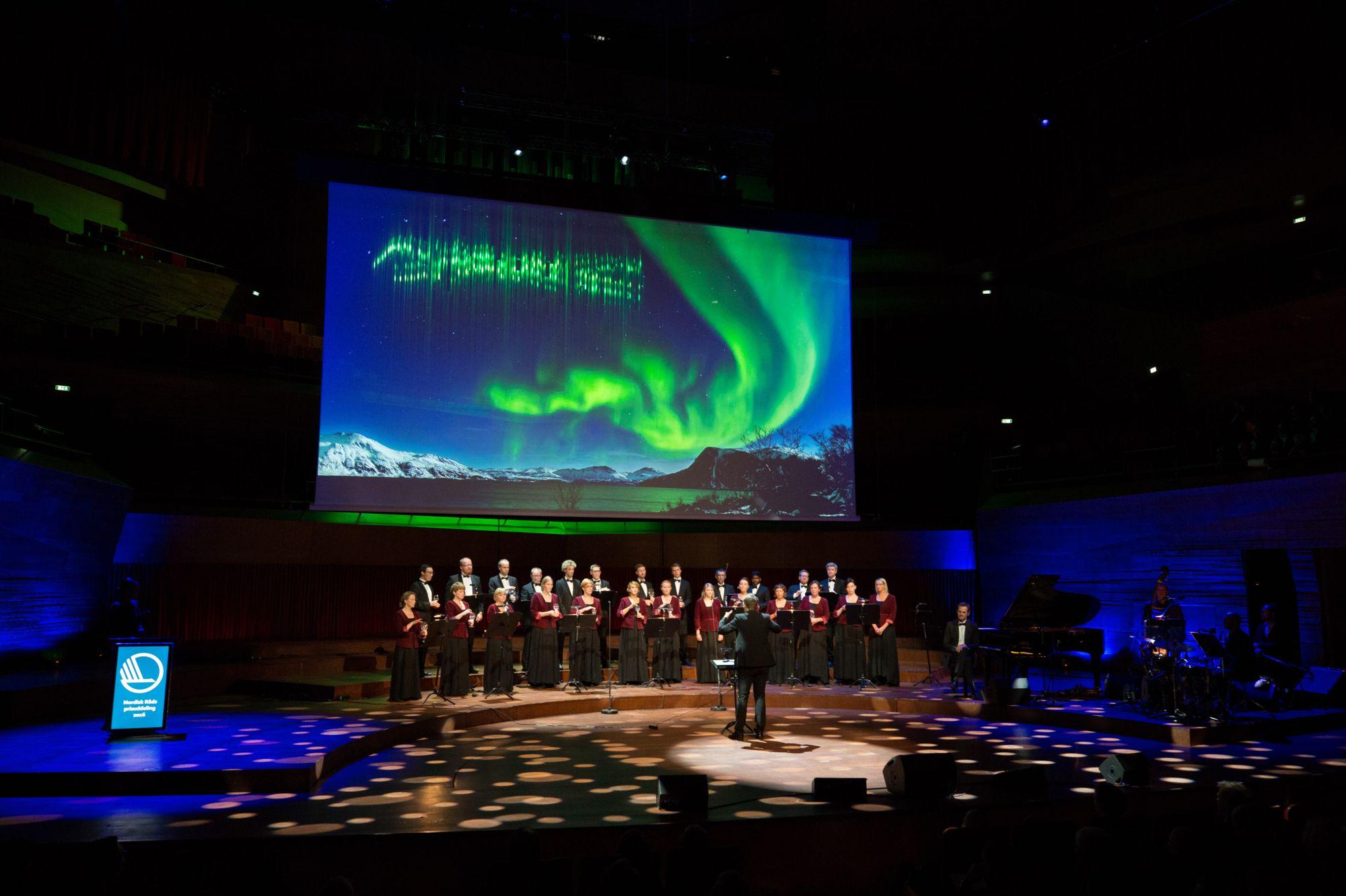 Afhending verðlauna Norðurlandaráðs í Kaupmannahöfn 2016. Mynd: Magnus Fröderberg/norden.org.